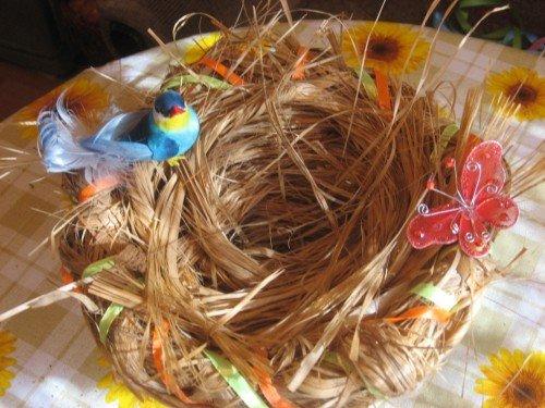 Птичий гнездо своими руками