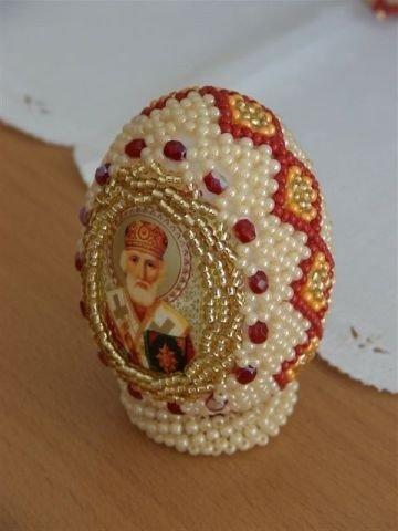 Оплетение яйца с