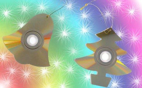 Украшения для дома на новый год из дисков