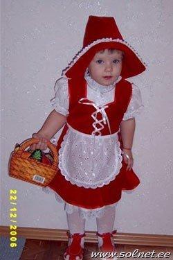 Выкройки к костюму красная шапочка